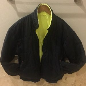 Other - Vintage 90s Reversible Black and Neon Jacket